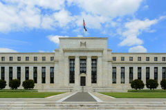 Federal Reserve Building in Washington DC, USA. Federal Reserve Building is the headquarter of the Federal Reserve System and 12 Federal Reserve Banks stock images