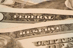 Federal Reserve Detail. Closeup detail of the word Reserve on a 20 dollar bill Royalty Free Stock Images