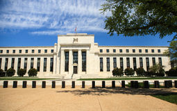 Federal Reserve die Washington DC bouwen stock foto's