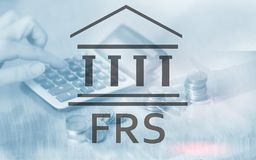 Federal Reserve System. FRS. Business Finance concept on abstract background. royalty free stock photography