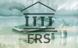 Federal Reserve System. FRS. Business Finance concept on abstract background. royalty free stock photo