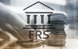 Federal Reserve System. FRS. Business Finance concept on abstract background. stock photo