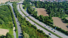 Federal road and highway. Aerial view stock video