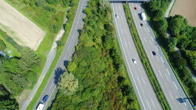 Federal road and highway. Aerial view stock footage