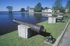 Federal style cannons Royalty Free Stock Image