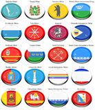Federal subjects of the Russian Federation flags Royalty Free Stock Image