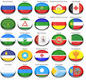 Federal subjects of the Russian Federation flags Stock Photos