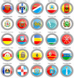 Federal subjects of the Russian Federation flags Stock Image