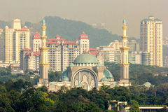 The Federal Territory Mosque in Kuala Lumpur, Malaysia. Stock Photos
