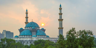 The Federal Territory Mosque, Malaysia II. The Federal Territory mosque, Malaysia at sunrise Stock Photography