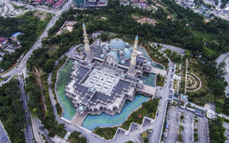 Federal Territory Mosque, Malaysia. The Federal Territory Mosque or Masjid Wilayah Persekutuan is a major mosque in Kuala Lumpur, Malaysia. It is located near Royalty Free Stock Photo