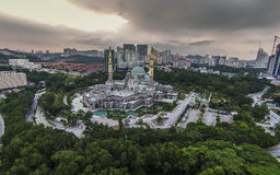 Federal Territory Mosque, Malaysia. The Federal Territory Mosque or Masjid Wilayah Persekutuan is a major mosque in Kuala Lumpur, Malaysia. It is located near Royalty Free Stock Image