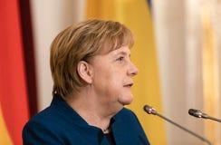 Federale Kanselier van de Bondsrepubliek Duitsland Angela Mer royalty-vrije stock afbeeldingen
