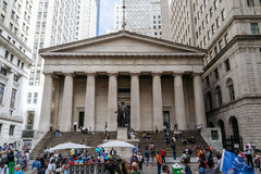 Federale Zaal met Washington Statue in New York Royalty-vrije Stock Afbeeldingen
