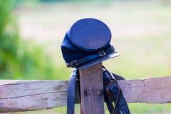 Federalt soldatlock för USA på staketstolpen Arkivfoto