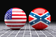 Federated and confederated flags spheres. 3d rendering of an Federated and confederated flags on a sphere Stock Photo