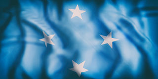 Federated States of Micronesia flag. 3d rendering of  an old Federated States of Micronesia flag waving Stock Image