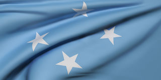 Federated States of Micronesia flag. 3d rendering of  Federated States of Micronesia flag waving Royalty Free Stock Photos