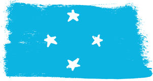 Federated States of Micronesia Flag Vector Hand Painted with Rounded Brush. This image is a illustration and can be scaled to any size without loss of resolution Royalty Free Stock Image