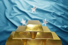 Federated States of Micronesia guld- reserver arkivbilder