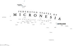 Federated States of Micronesia political map Royalty Free Stock Image
