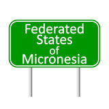 Federated States of Micronesia road sign. Federated States of Micronesia road sign isolated on white background Royalty Free Stock Image