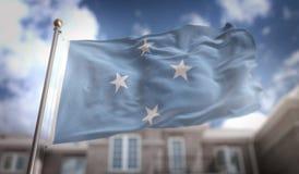 Federated States of Micronesia sjunker tolkningen 3D på blå himmel Bui Fotografering för Bildbyråer
