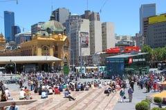 Federatie Vierkant Melbourne Australië Stock Foto's
