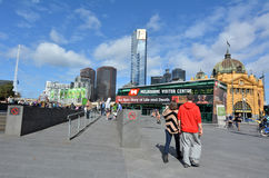 Federatievierkant - Melbourne Royalty-vrije Stock Fotografie