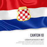 Federation of Bosnia and Herzegovina state Canton 10 flag. Royalty Free Stock Photo