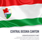 Federation of Bosnia and Herzegovina state Central Bosnia Canton flag. Stock Image