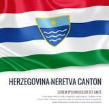 Federation of Bosnia and Herzegovina state Herzegovina-Neretva Canton flag. Stock Photos