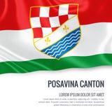 Federation of Bosnia and Herzegovina state Posavina Canton flag. Royalty Free Stock Photography