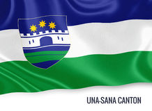 Federation of Bosnia and Herzegovina state Una-Sana Canton flag. Royalty Free Stock Images