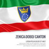 Federation of Bosnia and Herzegovina state Zenica Doboj Canton flag. Stock Photography