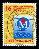 Federation of Mutual Insurance, 100 Years Society of Luxembourg Nature Loversserie, circa 1999. MOSCOW, RUSSIA - AUGUST 18, 2018: A stamp printed in Luxembourg stock photos