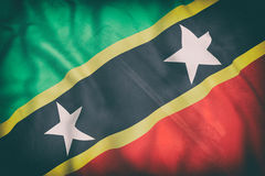 Federation of Saint Christopher and Nevis flag waving Stock Photo