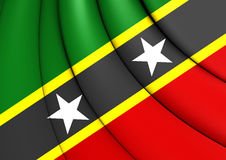 Federation of Saint Kitts and Nevis Flag. Close Up Stock Photography