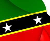 Federation of Saint Kitts and Nevis Flag. Close Up Royalty Free Stock Images