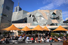 Federation Square. In Melbourne. Australia royalty free stock image