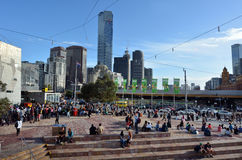 Federation Square - Melbourne Royalty Free Stock Photos