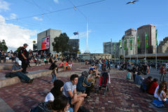 Federation Square - Melbourne Royalty Free Stock Photography