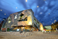 Federation Square in Melbourne Stock Photos