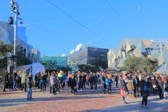 Federation Square Melbourne Australia Stock Photography