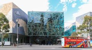 Federation square in melbourne,australia Stock Image