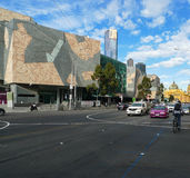 Federation square in melbourne,australia Stock Images