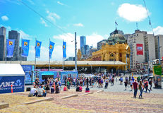 Federation Square in Melbourne city cetre Stock Photos