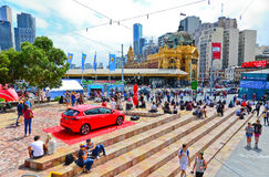 Federation Square in Melbourne city cetre Stock Images