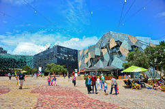 Federation Square in Melbourne city cetre Royalty Free Stock Image