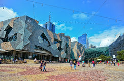 Federation Square in Melbourne city cetre Royalty Free Stock Images